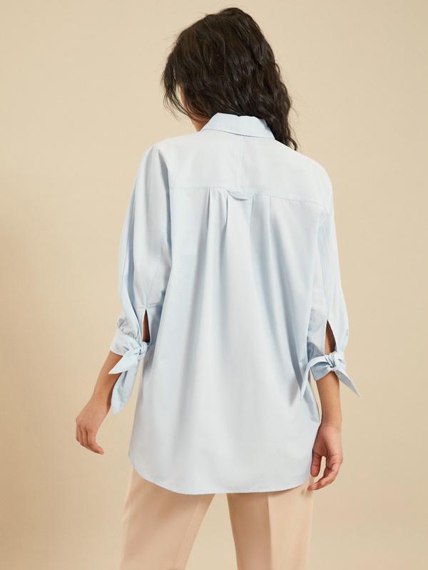 Блузка с рукавами на завязках - фото 4