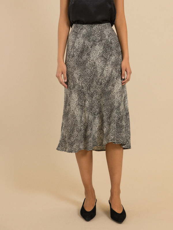 Струящаяся юбка-миди - фото 1