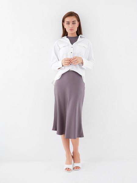 Расклешенная юбка-миди - фото 5