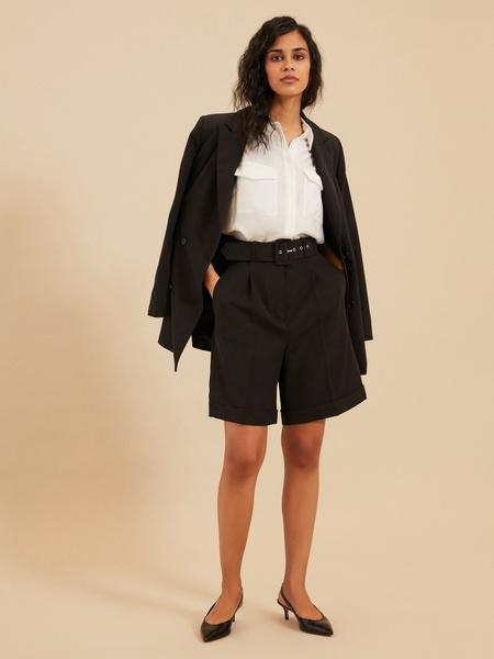 Широкие шорты с поясом - фото 1