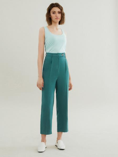 Прямые брюки с карманами - фото 1