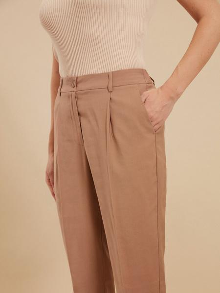 Зауженные брюки с подворотами - фото 3