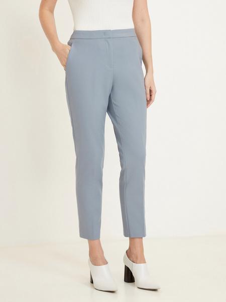 Зауженные брюки с эластичным поясом - фото 2