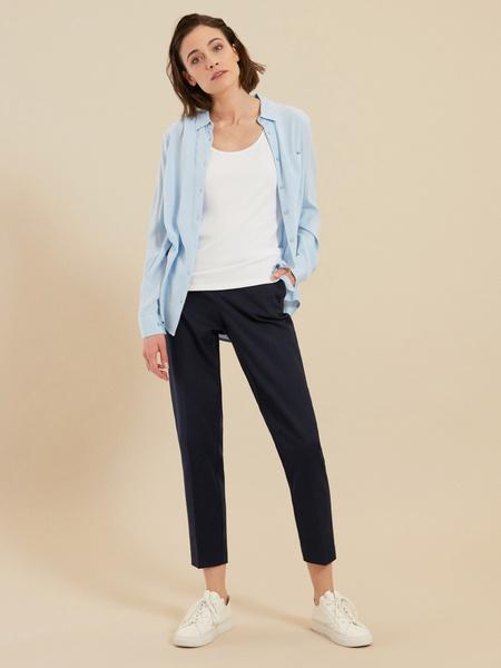 Зауженные брюки с эластичным поясом
