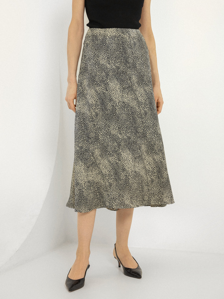 Расклешенная юбка-миди - фото 2