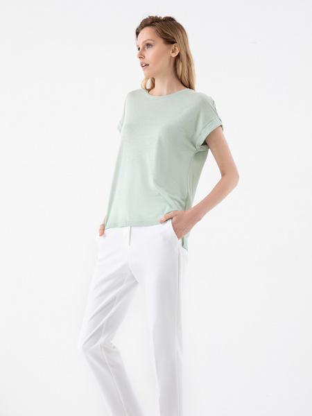 Зауженные брюки с эластичным поясом - фото 5