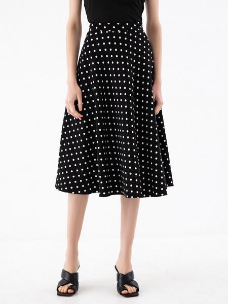 Струящаяся юбка-миди - фото 2