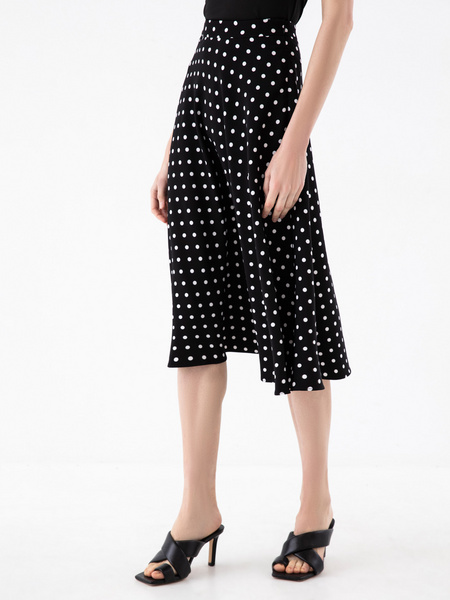 Струящаяся юбка-миди - фото 3