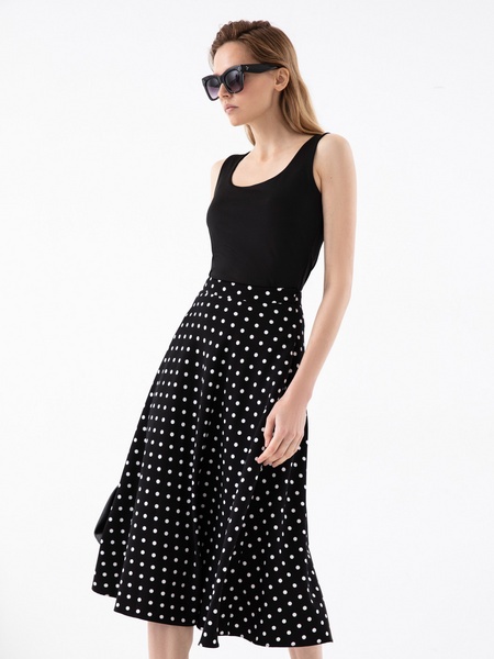 Струящаяся юбка-миди - фото 6