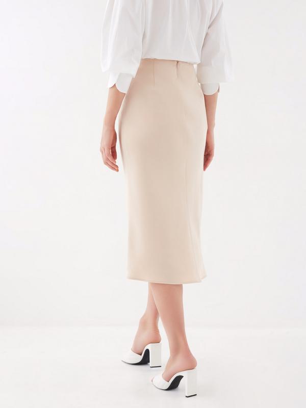 Расклешенная юбка-миди - фото 4
