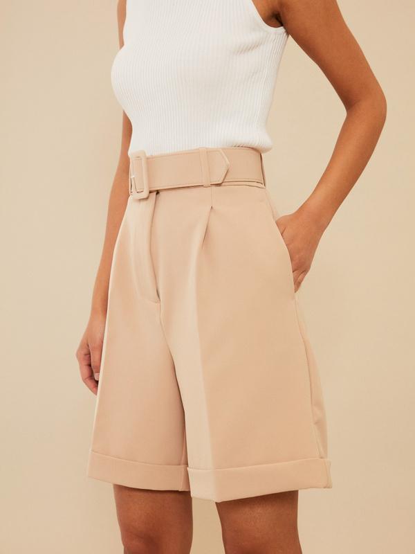 Широкие шорты с поясом - фото 3