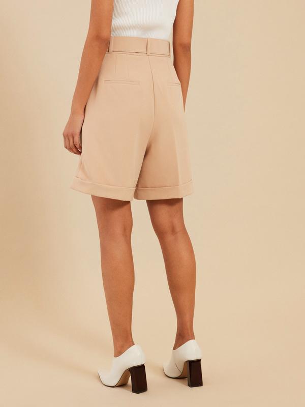 Широкие шорты с поясом - фото 4