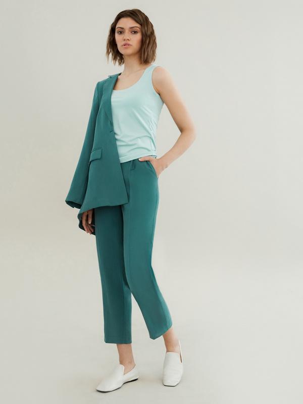 Прямые брюки с карманами - фото 5