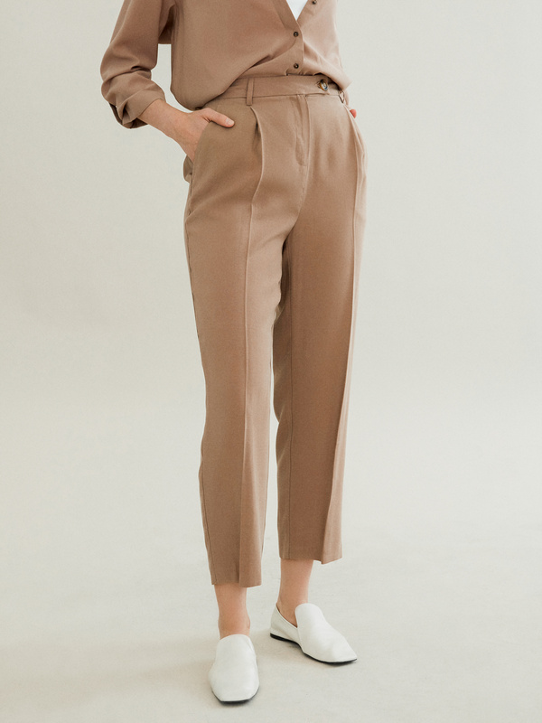 Прямые брюки с карманами - фото 2