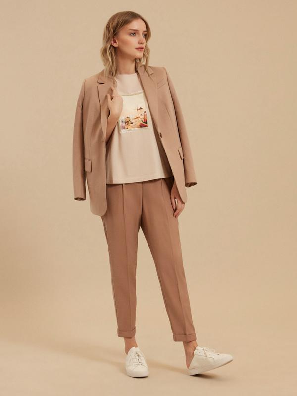 Зауженные брюки с подворотами - фото 5