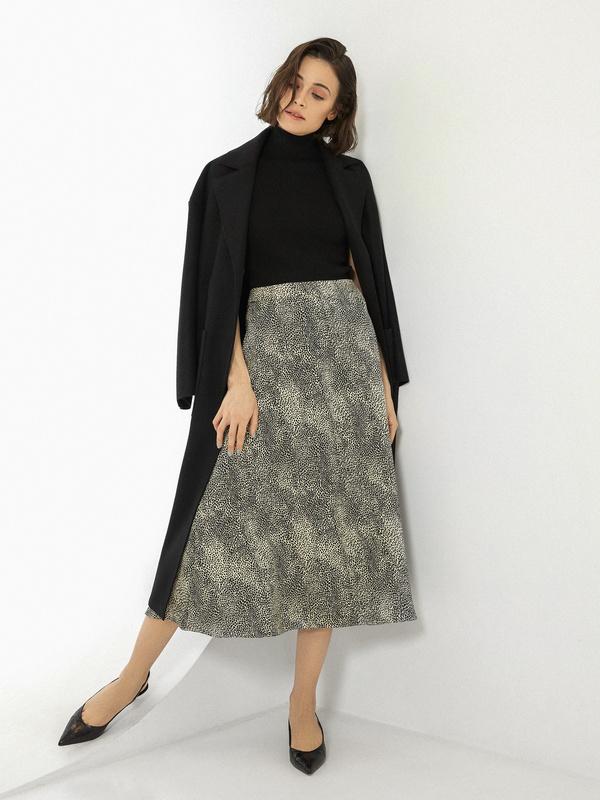 Расклешенная юбка-миди