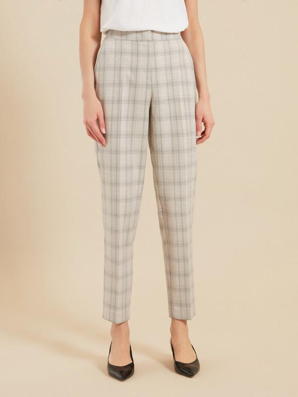 Зауженные брюки с карманами - фото 2