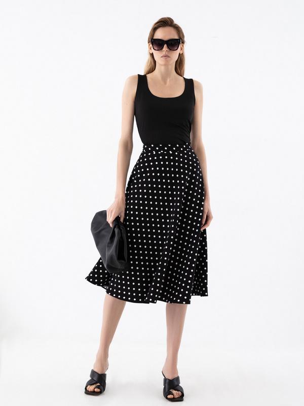 Струящаяся юбка-миди