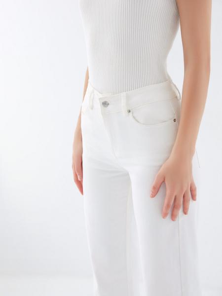Джинсы wide leg широкие - фото 4