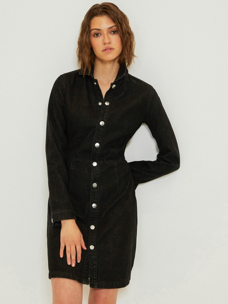 Платье-рубашка из 100% хлопка - фото 1