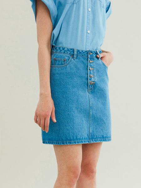 Джинсовая мини-юбка - фото 3
