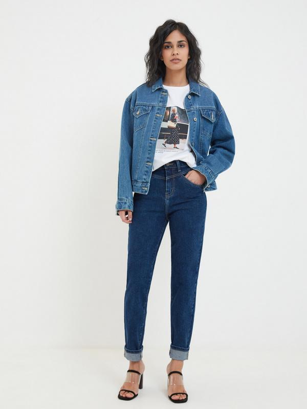 Брюки джинсовые фото