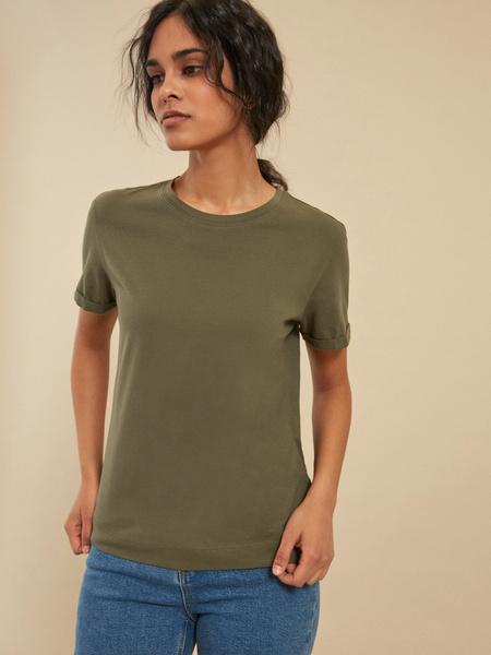 Повседневная хлопковая футболка - фото 1