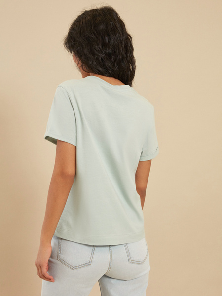 Повседневная хлопковая футболка - фото 3