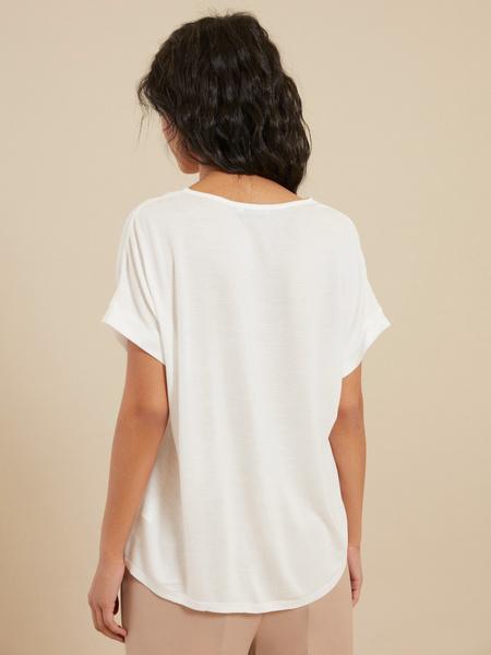 Блузка с треугольным вырезом - фото 3