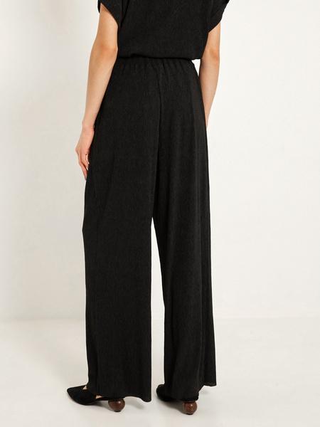 Широкие брюки с эластичным поясом - фото 4