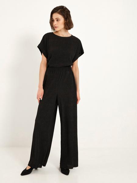 Широкие брюки с эластичным поясом - фото 5