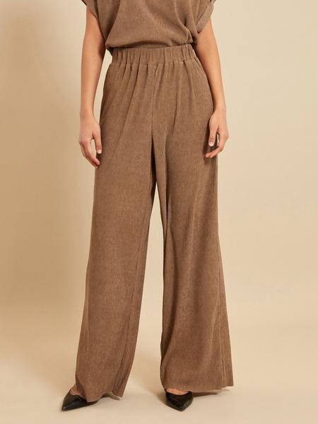 Широкие брюки с эластичным поясом - фото 1