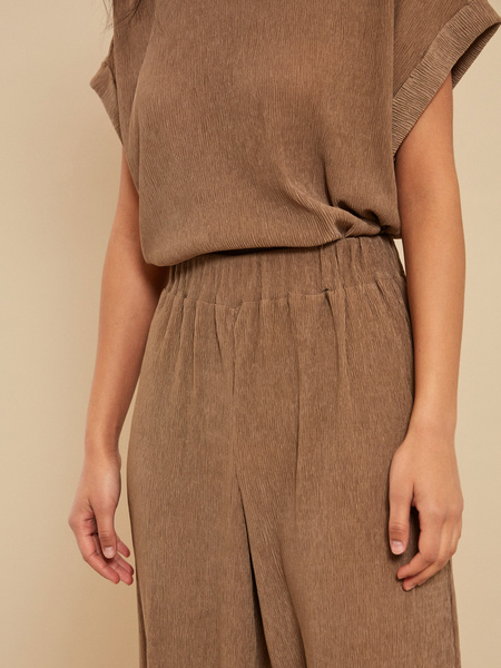 Широкие брюки с эластичным поясом - фото 2