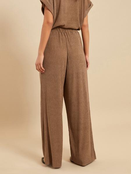Широкие брюки с эластичным поясом - фото 3