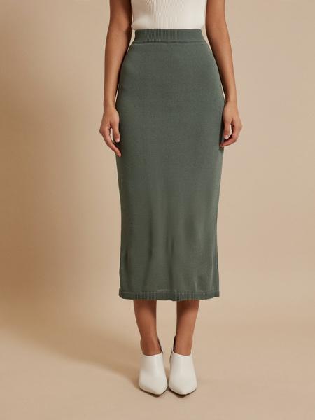 Зауженная трикотажная юбка - фото 2