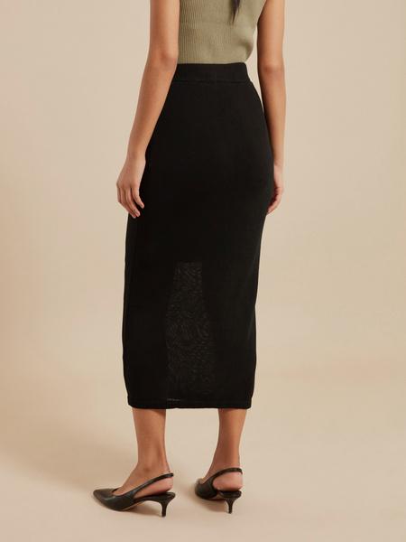 Зауженная трикотажная юбка - фото 5