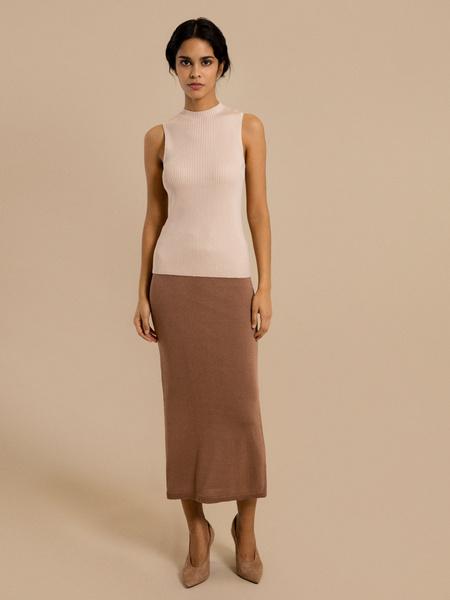 Зауженная трикотажная юбка - фото 1