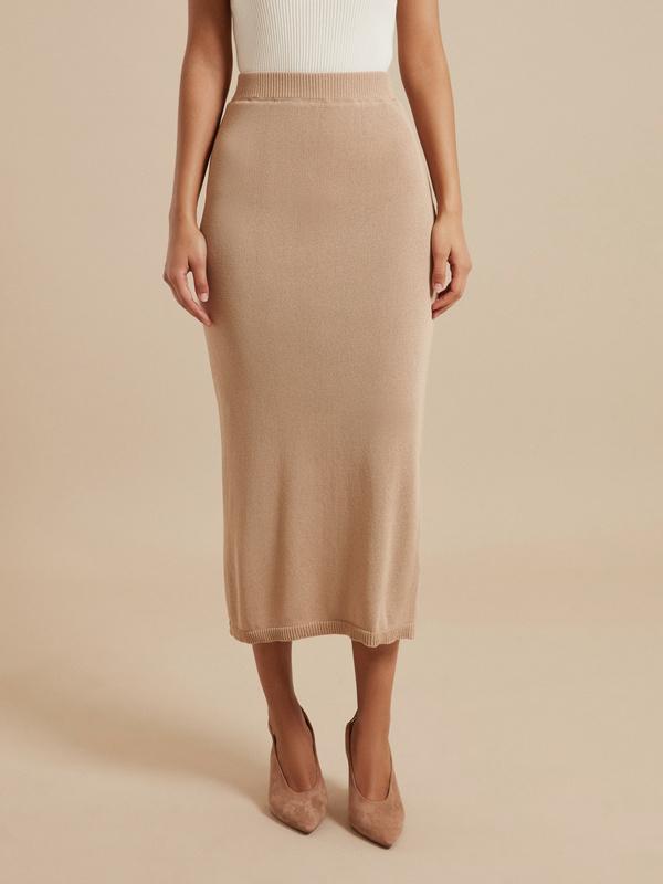 Зауженная трикотажная юбка