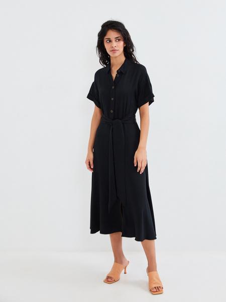 Платье-миди с коротким рукавом