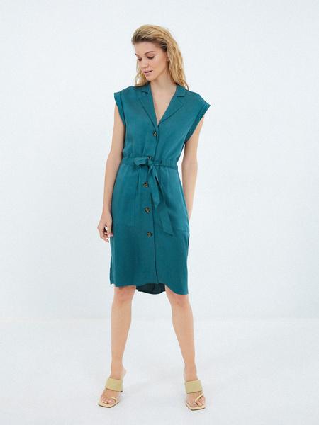 Платье-рубашка на поясе - фото 6