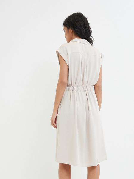 Платье-рубашка на поясе - фото 4