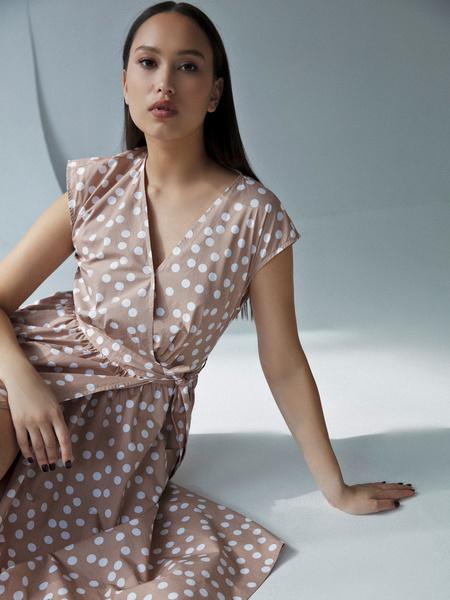 Платье из 100% хлопка с карманами - фото 2