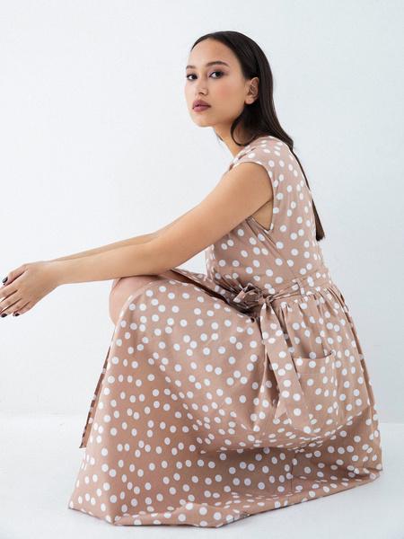 Платье из 100% хлопка с карманами - фото 4