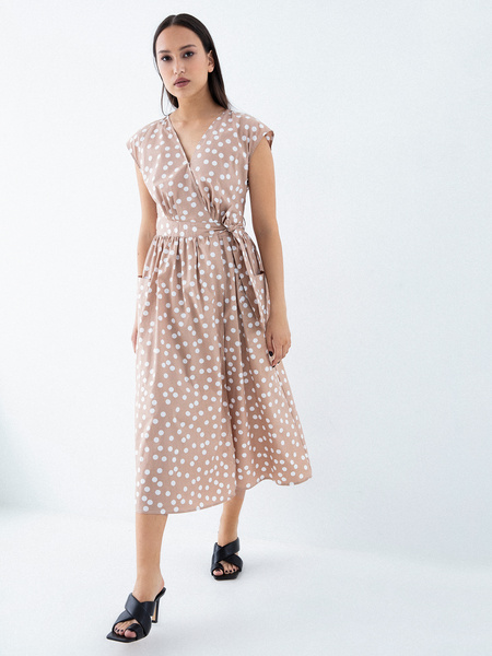 Платье из 100% хлопка с карманами - фото 5