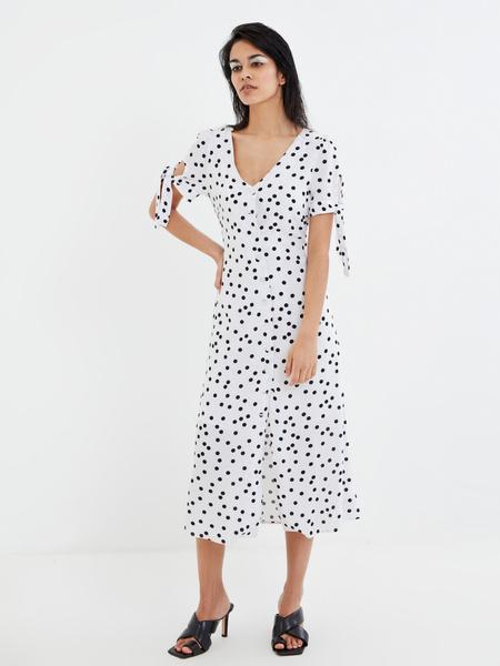 Платье с рукавами на завязках - фото 6