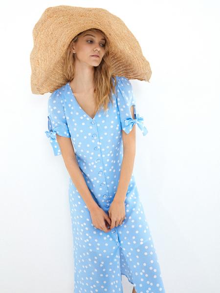 Платье с рукавами на завязках - фото 2
