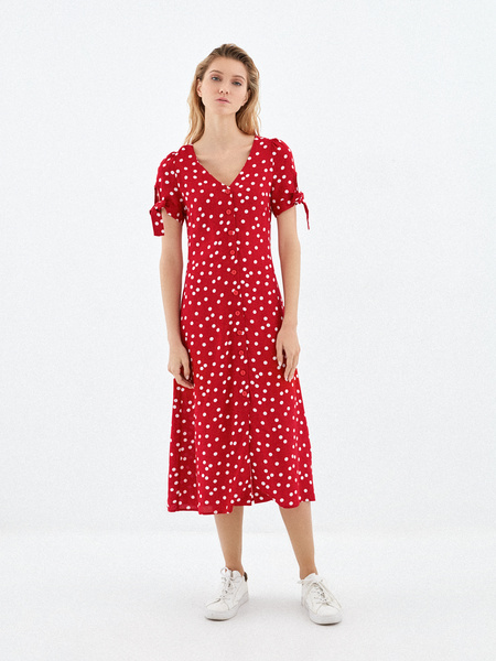 Платье с рукавами на завязках - фото 1