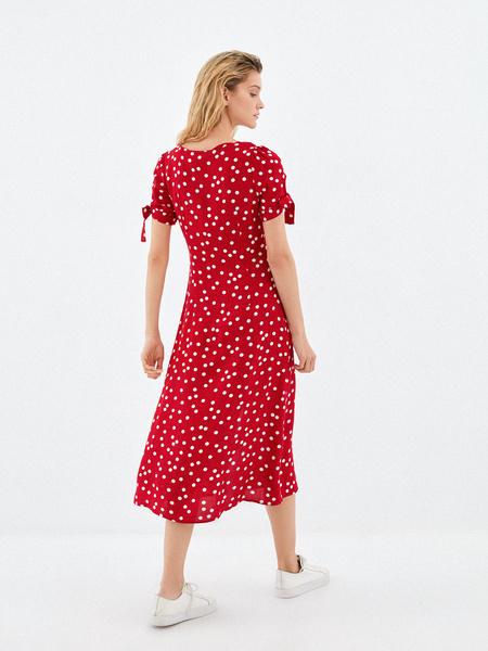 Платье с рукавами на завязках - фото 5
