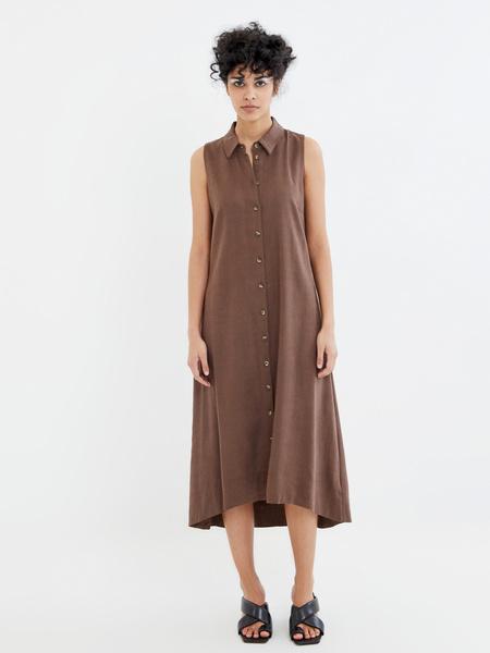 Платье с открытыми плечами - фото 5