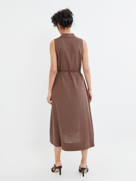 Платье с открытыми плечами - фото 7